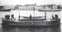 Верейка во время морского парада в честь 200-летия Санкт-Петербурга