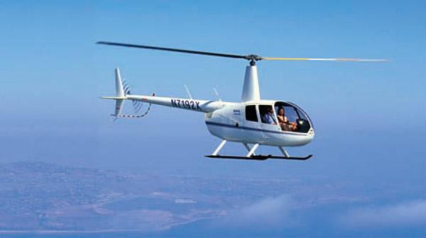 Вертолет «R-44» в полете