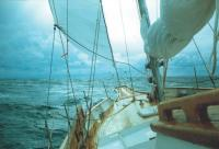 Вид с палубы нашей яхты