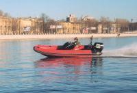 """Вид сбоку на лодку """"Буревестник В-530Н"""""""