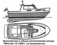 """Внешний вид и общее расположение катера """"Minorita"""""""