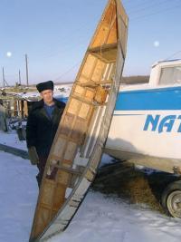 Внешний вид лодки из бересты