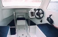 Внутри катера