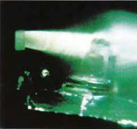 Впечатляющая картина момента впрыска топлива внутрь камеры сгорания