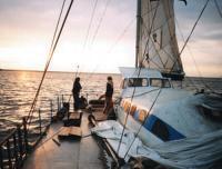 Встреча рассвета на яхте