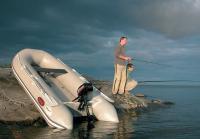 Выезд небольшой лодке на рыбалку