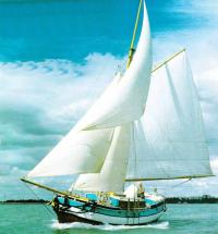 Яхта «Анастасия» под парусами