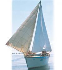 Яхта Фарт под всеми парусами