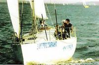 "Яхта ""Ослябя"" под парусами"