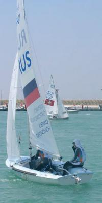 Яхта российских спортсменов