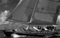 Яхта с вооружением Аэрориг