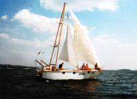 Яхта Смак под парусами