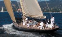 Яхта Velsheda на дистанции