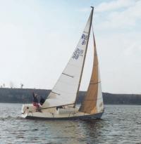 "Яхта ""Ветер"" под парусами"