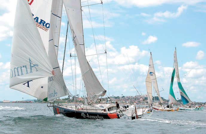 Яхты на старте третьего этапа