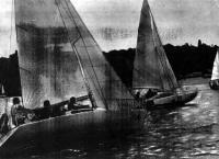 Яхты в Кременчугском водохранилище