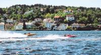 Юные норвежские гонщики на дистанции