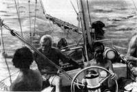 За штурвалом яхты
