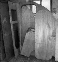 Заготовки дверей и переборок перед отделкой