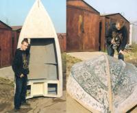 Артем Покровский восстанавливает лодку