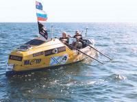 Братья Синельники на своей лодке