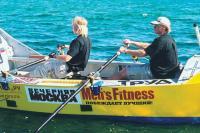 Братья Синельники за веслами
