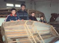 Будущие мореплаватели в мастерской