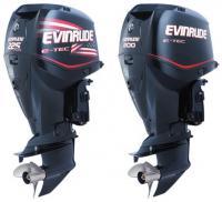 "Два мотора ""Evinrude"" мощностью 200 и 225 л.с."