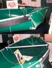 """Двухместная лодка фирмы """"Cano-da"""" складывается из листа пропилена"""