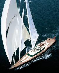 Фото яхты Tiara с высоты