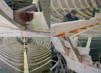 Фотографии процесса постройки ладьи