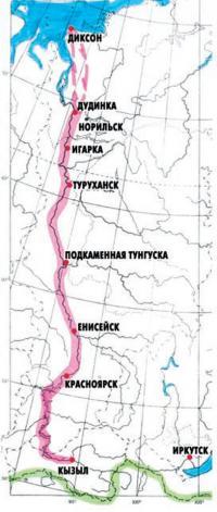 Карта-схема шлюпочного похода