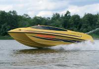 Катер Freerider-490-jet на ходу