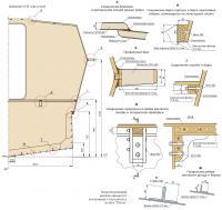 Конструктивный мидель-шпангоут и основные узлы корпуса катера