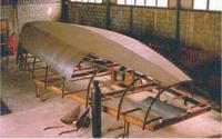 Корпус аналогичной яхты с радиусной скулой