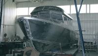 Корпус катера Аляска-31 на верфи Morozov Yachts