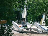 Мелкий ремонт катамаранов класса Торнадо на берегу