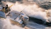 На транце катера ПМ Johnson