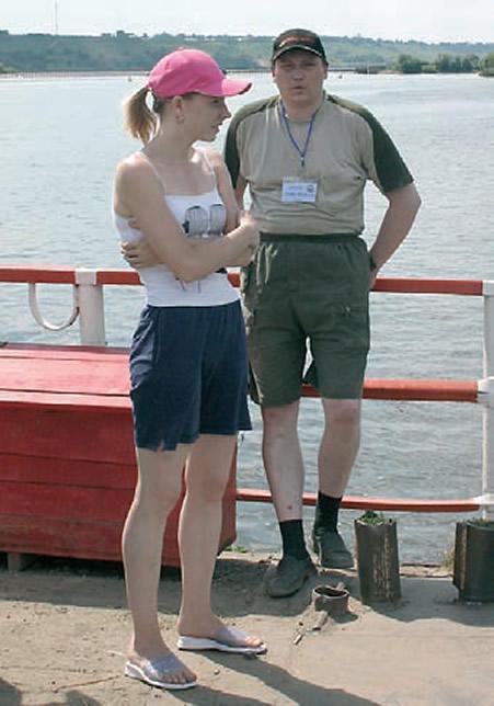Непосредственные организаторы фестиваля Андрей и Лена Шалыгины