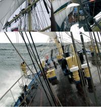 Несколько фотографий с палубы Мира