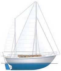 Общее расположение армоцементной яхты