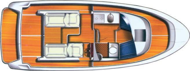 Общее расположение катера
