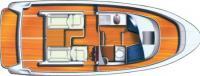"""Общее расположение катера """"Aquador-25C"""""""