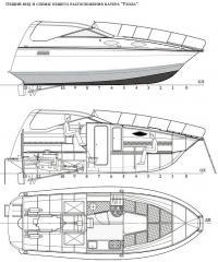 Общий вид и схемы общего расположения катера