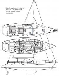 Общий вид яхты по проекту
