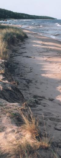 Песчаный берег хорошее место для стоянки