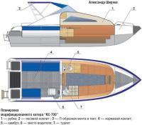 Планировка модифицированного катера