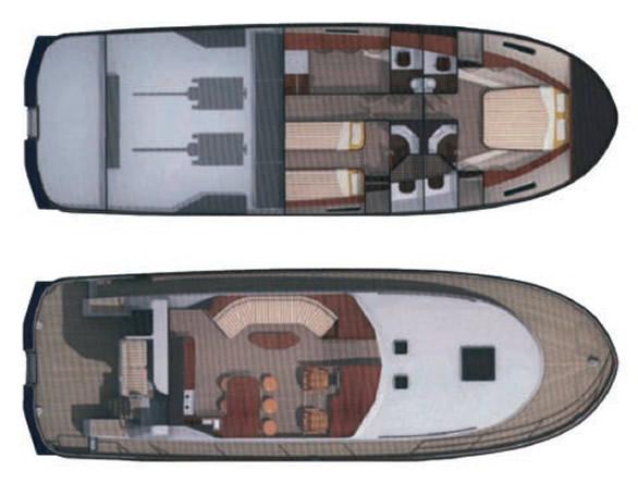 Планировка палубы и внутренних помещений