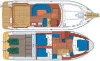 """Планировка яхты """"Nord-West 390"""""""