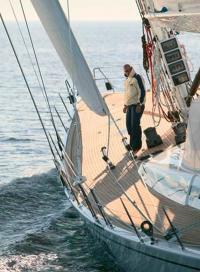 Плоская палуба яхты